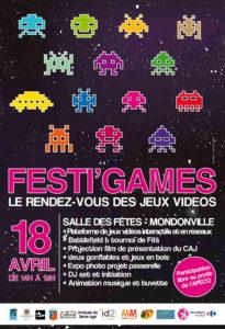 Affiche Festi'Games Lieu
