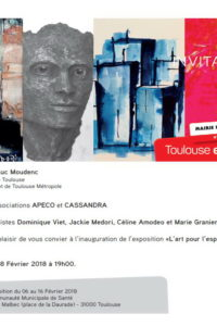 invitation EXPO l'ART pour l'ESPOIR